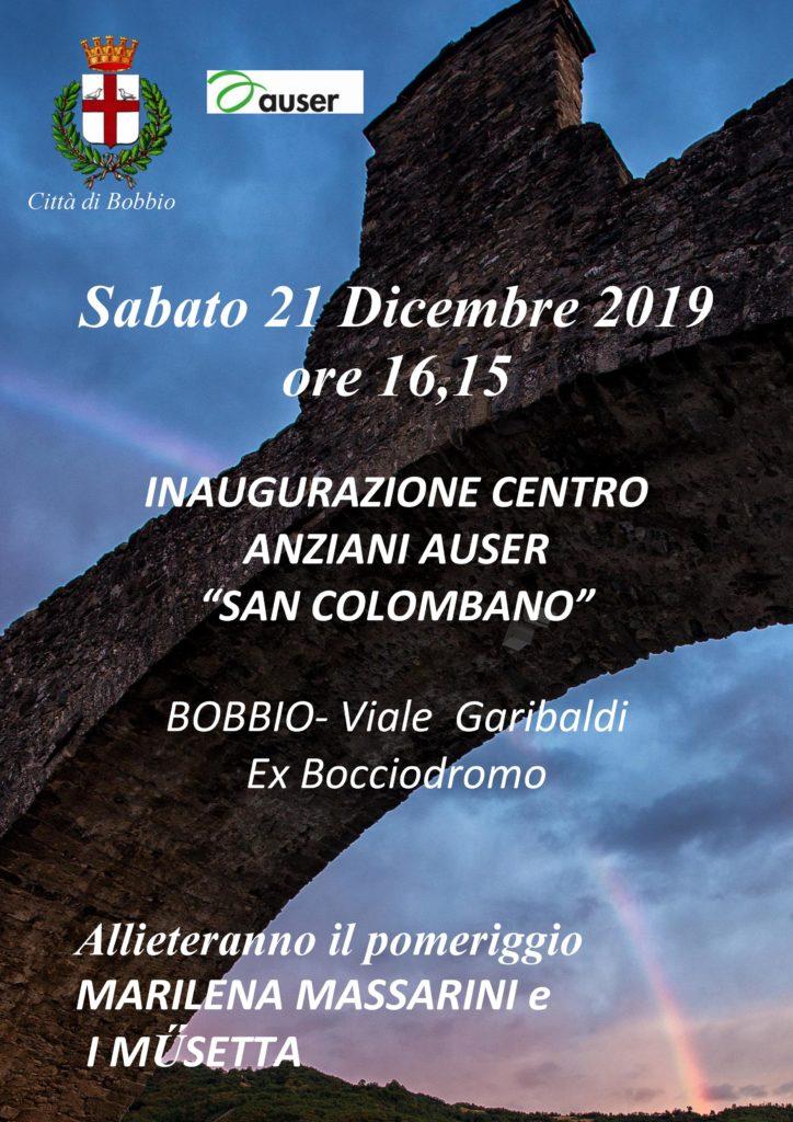 Inaugurazione Bobbio Auser San Colombano